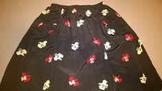 Vintage 90s Handmade flared skirt with retro dogs pattern. Pockets with little bows. Knee lenght. Colour Blue, Red and White di RCClo su Etsy
