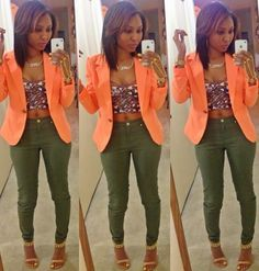 Loving this blazer.entire look is hot Chic Outfits, Fall Outfits, Summer Outfits, Fashion Outfits, Womens Fashion, Fashion Ideas, Fashion Killa, Look Fashion, Autumn Fashion