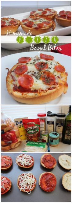 Homemade Garlic Pizza Bagel Bites  www.facebook.com/haribfitness for fitness, healthy recipes and motivation.