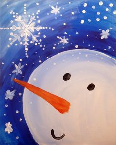 Snowman and Snowflake | Creatively Uncorked | http://creativelyuncorked.com