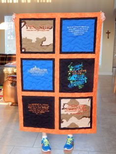 The Fleming's Nine: Black and Orange T-Shirt Quilt