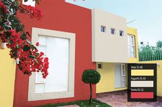 #Comex Colores vibrantes para tu fachada.