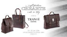 Atelier CREARTE will be exhibiting at TRANOÏ Homme Paris, Cité de la Mode et du Design - Stand D 03