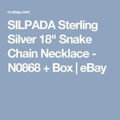 "SILPADA Sterling Silver 18"" Snake Chain Necklace - N0868 + Box    eBay"