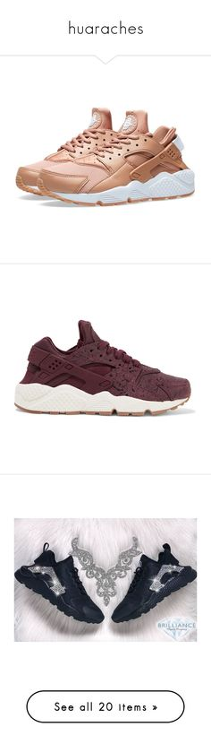 """""""huaraches"""" by jaden-norman ❤ liked on Polyvore featuring shoes, sneakers, nike, sapato, leather sneakers, leather lace up shoes, perforated leather sneakers, perforated sneakers, burgundy sneakers and sky blue"""