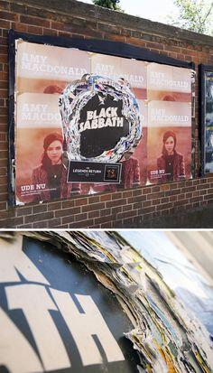 Designersgotoheaven.com - Cool outdoor advertising for Black Sabbath, Legends Return by AndreasRasmussen.
