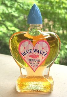 Blue Waltz Perfume was sold in the dime store for about fifty cents a bottle.