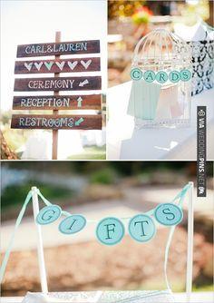 card and gift table | VIA #WEDDINGPINS.NET