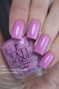 OPI Lucky Lucky Lavender (grape fizz nails) OPI Lucky Lucky Lavender (grape fizz nails),Nails OPI Lucky Lucky Lavender Related Phenomenal Ombre Nail Art Designs Ideas for This Year - Page 40 of Nails Opi, Manicure And Pedicure, Nail Nail, Fabulous Nails, Gorgeous Nails, Colorful Nail Designs, Nail Art Designs, Cute Nails, Pretty Nails