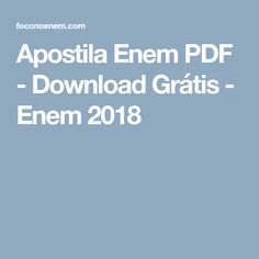Apostila Enem 2020 Pdf Download Gratis Com Imagens Enem