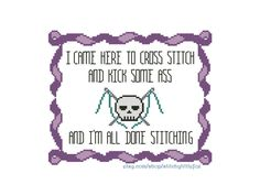 Cross Stitch Funny Subversive Cross Stitch Pattern X