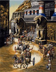 Palacio Imperial de Hattusa en su máximo esplendor