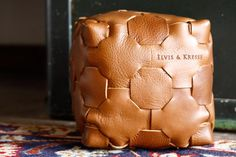 Elvis & Kresse Leather Cube - Caramel