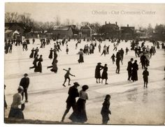 ID#0100 Date: Unknown. This image shows people skating at Gayter's rink. The cost of skating was remembered to be 10 cents for an entire day. Across Lorain Street was a grocery store (the current site of a laundromat) where skaters could buy snacks. Participant Pat Stetson remembers going to Gayter's with 20 cents; half for admission and the remainder for treats. Participant: John P. Gorske. Additional Sources: Interview with Pat Stetson, 7/00; Interview with Jack Harley 8/00.