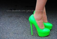 #NEON green #FLUO #tacones #heels