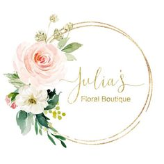 Premade Logo Design, Photo Watermark Logo, Floral Logo, Wreath Logo, B… Frame Floral, Flower Frame, Logo Couronne, Logo Fleur, Website Logo, Name Wall Art, Flower Logo, Watercolor Logo, Boutique Logo