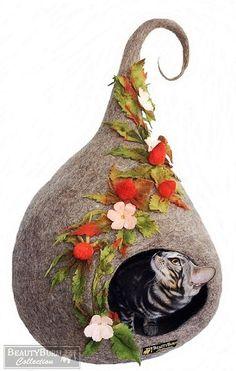 House for Little Elf  House Cat  House от BeautyburmCollection