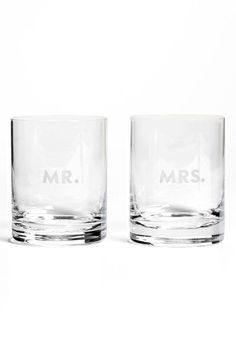 kate spade new york 'darling point' double old fashioned glasses (Set of 2) available at #Nordstrom