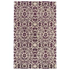 Evolution Purple 5 ft. x 7 ft. 9 in. Area Rug