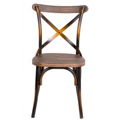 Dining Chair made of metal in an antique copper finish. A comfortable solid wood seat smartly designed for out most beauty and comfort. Contemporary Dining Chairs, Modern Contemporary, Metal Chairs, Side Chairs, Wood And Metal, Solid Wood, Traditional Chairs, Parsons Chairs, Wood Dust