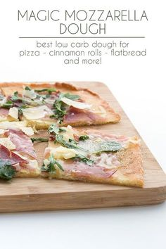 My low carb Mozzarella Dough in a How-To video! This versatile keto dough recipe is so useful for pizza, calzones, garlic knots, low carb bagels, and even cinnamon rolls.