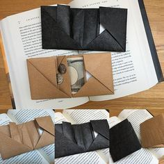 How to fold up the origami wallet. | 紙でつくったものたち