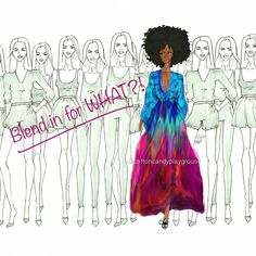 Don't blend in Stand out afro art Black Girl Art, Black Women Art, Black Girls Rock, Black Girl Magic, Art Girl, Vida Natural, Pelo Natural, Au Natural, Going Natural