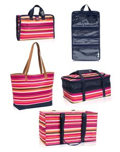 Thirty-One - Pinstripe Punch by kimsanjulian on Polyvore featuring polyvore, fashion, style and clothing