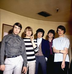 The Rolling Stones: Precious Prints: The Rolling Stones, including Charlie Watts (from left), Brian Jones, Bill Wyman, Keith Richards and Mick Jagger, dress in stripes, plaid and paisleys before posing for a photo in July 1964.  (Photo by Monitor Picture Library/Photoshot.) (Photo: Getty Images)