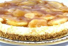 Extravagant and Skinny, Apple Pie Topped Cheesecake for Thanksgiving