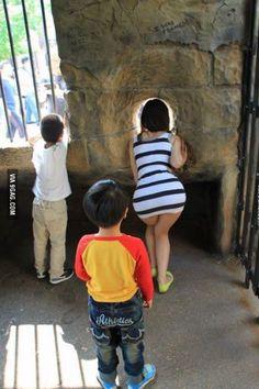 A true gentleman always lets ladies go first