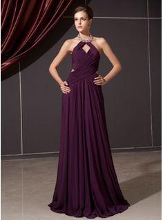 Special Occasion Dresses - $146.99 - A-Line/Princess Halter Floor-Length Chiffon Evening Dress With Ruffle Beading  http://www.dressfirst.com/A-Line-Princess-Halter-Floor-Length-Chiffon-Evening-Dress-With-Ruffle-Beading-017014244-g14244