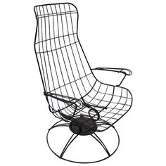 50 S Mid Century Homecrest Patio Swivel Rocker Wire Chair