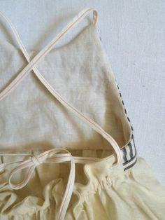 Hemp and Linen Striped Patchwork Dress by HarrietsHaberdashery