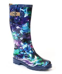 Love this Chooka Violet Deep Sea Rain Boot by Chooka on #zulily! #zulilyfinds
