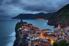 Vernazza Twilight Cinque Terre Liguria Italy by TheWorldExplored