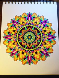 ColorIt Mandalas to Color Volume 1 Colorist: Terri Ferguson Dobbs #adultcoloring #coloringforadults #mandalas #mandala #coloringpages