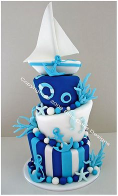 Sailing Boat Christening Cake, Christening Cakes Sydney, Christening Cake Designs, Communion Cakes, Baptism Cakes, Baby Christening Cake