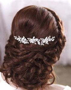 Ivory bridal hair pins White bridal flower hair pins Ivory Wedding hair  pins Rhinestone hair pins Crystal hair pins Bridal floral hair pins cf4b93049020