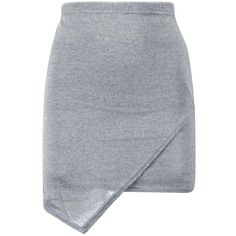 Harriet Wrap Over Knitted Mini Skirt ($2.47) ❤ liked on Polyvore featuring skirts, mini skirts, bottoms, saias, mini skirt, wrap skirt, short mini skirts, short wrap skirt and short skirts