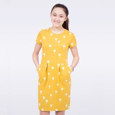 39 Ideas For Sewing Machine Projects For Teens Dresses For Teens, Summer Dresses For Women, Simple Dresses, Girls Dresses, Bella Dresses, New Trend Dress, Diy Fashion, Fashion Outfits, Sweat Dress