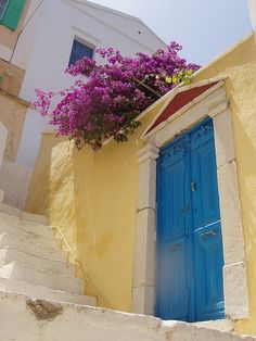 Blue Door, in Greece