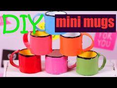 DIY Miniature Enamel Mugs for dolls - YouTube