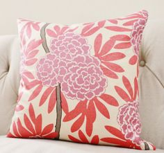Pink Purple Pillow Coral Designer Pillow Cover by MotifPillows