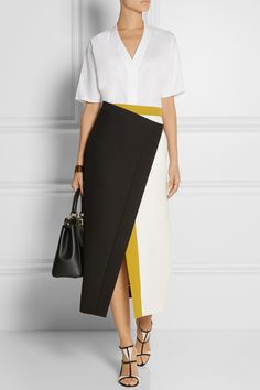 Fendi skirt and bag, Adam Lippes top, Gianvito Rossi shoes