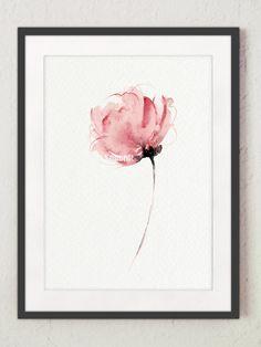 Fiore dell'acquerello astratto arte stampa di ColorWatercolor