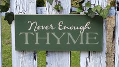 Never Enough Thyme Painted Wood Summer Garden by 2ChicksAndABasket