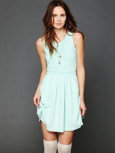 mint dress by J. Cheyenne F.