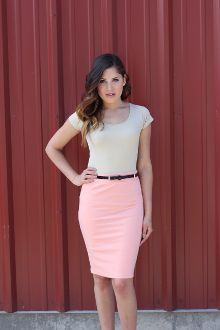Pencil Skirt and Band Tee | Style Inspiration | Pinterest | Pink ...