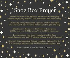 Christmas Child Shoebox Ideas, Operation Christmas Child Shoebox, Kids Christmas, Abc Crafts, Holiday Crafts, Homeless Care Package, Operation Shoebox, Samaritan's Purse, Kids Church
